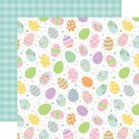 Echo Park - Welcome Easter Collection - 12 x 12 Double Sided Paper - Painted Eggs