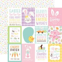 Echo Park - Welcome Easter Collection - 12 x 12 Double Sided Paper - 3 x 4 Journaling Cards