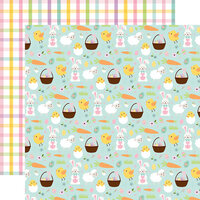 Echo Park - Welcome Easter Collection - 12 x 12 Double Sided Paper - Easter Icons