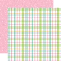 Echo Park - Welcome Easter Collection - 12 x 12 Double Sided Paper - Pastel Plaid