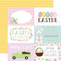 Echo Park - Welcome Easter Collection - 12 x 12 Double Sided Paper - 6 x 4 Journaling Cards