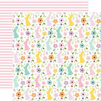 Echo Park - Welcome Easter Collection - 12 x 12 Double Sided Paper - Bunny Field