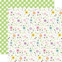 Echo Park - Welcome Easter Collection - 12 x 12 Double Sided Paper - Pastel Petals