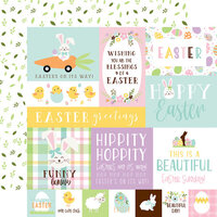 Echo Park - Welcome Easter Collection - 12 x 12 Double Sided Paper - Multi Journaling Cards
