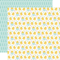 Echo Park - Welcome Easter Collection - 12 x 12 Double Sided Paper - Chirping Chicks
