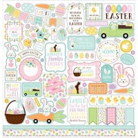 Echo Park - Welcome Easter Collection - 12 x 12 Cardstock Stickers - Elements