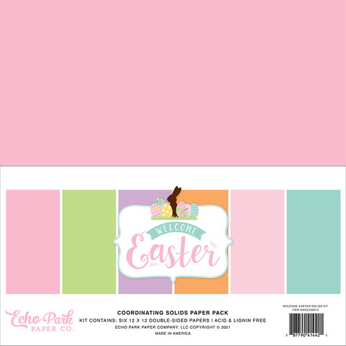 Echo Park - Welcome Easter Collection - 12 x 12 Paper Pack - Solids