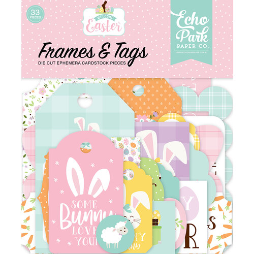Echo Park - Welcome Easter Collection - Ephemera - Frames and Tags