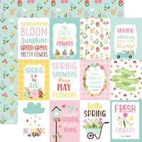 Echo Park - Welcome Spring Collection - 12 x 12 Double Sided Paper - 3 x 4 Journaling Cards