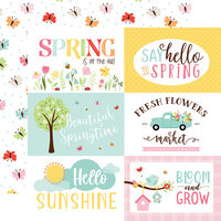 Echo Park - Welcome Spring Collection - 12 x 12 Double Sided Paper - 6 x 4 Journaling Cards