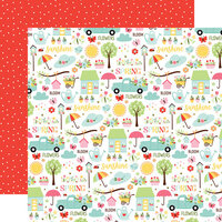 Echo Park - Welcome Spring Collection - 12 x 12 Double Sided Paper - Sunny Spring Days
