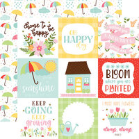 Echo Park - Welcome Spring Collection - 12 x 12 Double Sided Paper - 4 x 4 Journaling Cards
