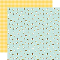 Echo Park - Welcome Spring Collection - 12 x 12 Double Sided Paper - Bumblebee Breeze