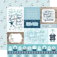 Echo Park - Winter Magic Collection - 12 x 12 Double Sided Paper - Multi Journaling Cards