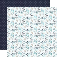 Echo Park - Winter Magic Collection - 12 x 12 Double Sided Paper - Frozen Floral