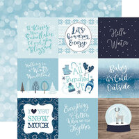 Echo Park - Winter Magic Collection - 12 x 12 Double Sided Paper - 4 x 4 Journaling Cards