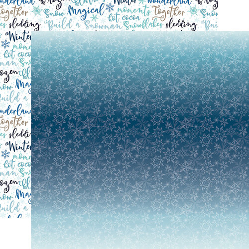 Echo Park - Winter Magic Collection - 12 x 12 Double Sided Paper - Icy Snowflakes