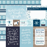 Echo Park - Winter Magic Collection - 12 x 12 Double Sided Paper - 4 x 6 Journaling Cards