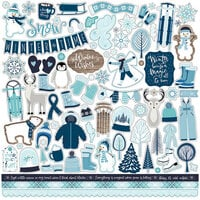 Echo Park - Winter Magic Collection - 12 x 12 Cardstock Stickers - Elements