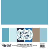 Echo Park - Winter Magic Collection - 12 x 12 Paper Pack - Solids