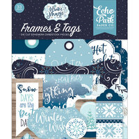Echo Park - Winter Magic Collection - Ephemera - Frames and Tags