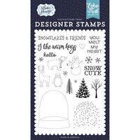 Echo Park - Winter Magic Collection - Clear Photopolymer Stamps - You Melt My Heart