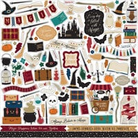 Echo Park - Witches and Wizards No. 2 Collection - 12 x 12 Element Stickers