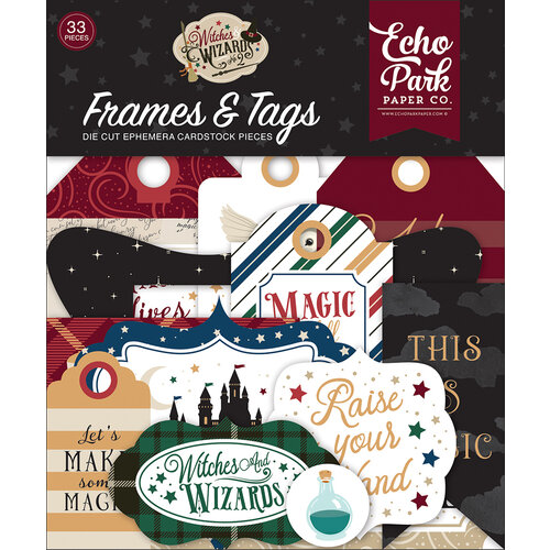 Echo Park - Witches and Wizards No. 2 Collection - Ephemera - Frames and Tags