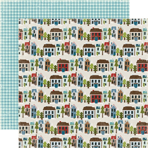 Echo Park - Winter Park Collection - 12 x 12 Double Sided Paper - Park City