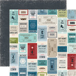 Echo Park - Winter Park Collection - 12 x 12 Double Sided Paper - Lift Tickets