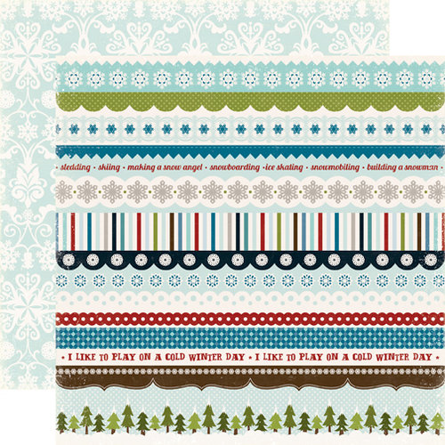 Echo Park - Winter Park Collection - 12 x 12 Double Sided Paper - Borders