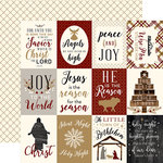 Echo Park - Wise Men Still Seek Him Collection - Christmas - 12 x 12 Double Sided Paper - 3 x 4 Journaling Cards