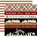 Echo Park - Wise Men Still Seek Him Collection - Christmas - 12 x 12 Double Sided Paper - Border Strips