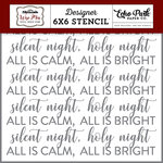 Echo Park - Wise Men Still Seek Him Collection - Christmas - 6 x 6 Stencil - Silent Night