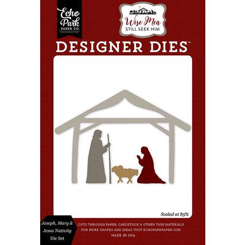 Echo Park - Wise Men Still Seek Him Collection - Christmas - Designer Dies - Joseph, Mary and Jesus Nativity