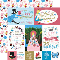 Echo Park - Alice In Wonderland No. 2 Collection - 12 x 12 Double Sided Paper - Multi Journaling Cards