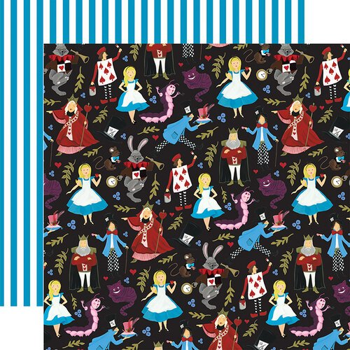 Echo Park - Alice In Wonderland No. 2 Collection - 12 x 12 Double Sided Paper - Tea Party