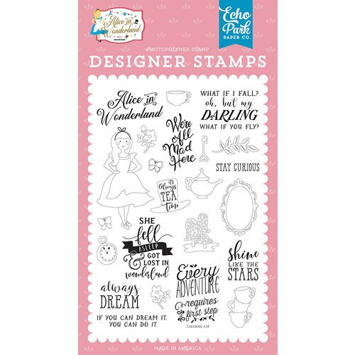 Echo Park - Alice In Wonderland No. 2 Collection - Clear Photopolymer Stamps - Always Dream