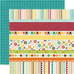 Echo Park - A Walk in The Park Collection - 12 x 12 Double Sided Paper - Blissful Day Border Strips, CLEARANCE