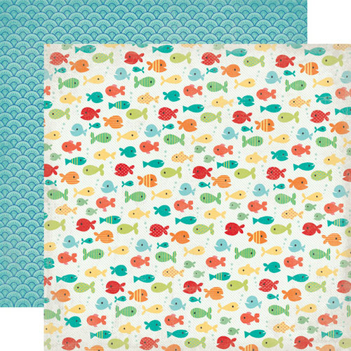 Echo Park - Walking On Sunshine Collection - 12 x 12 Double Sided Paper - Fancy Fish