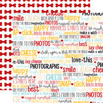Echo Park - Wish Upon a Star Collection - 12 x 12 Double Sided Paper - Smile Words