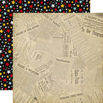 Echo Park - Wish Upon a Star Collection - 12 x 12 Double Sided Paper - Newsprint