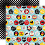 Echo Park - Wish Upon a Star Collection - 12 x 12 Double Sided Paper - Best Day Buttons