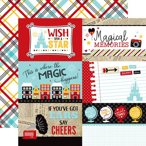 Echo Park - Wish Upon a Star Collection - 12 x 12 Double Sided Paper - 4 x 6 Journaling Cards