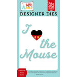 Echo Park - Wish Upon a Star Collection - Designer Dies - I Heart the Mouse