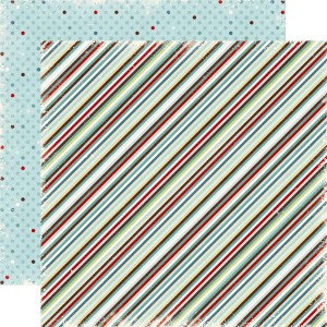Echo Park - Wintertime Collection - 12 x 12 Double Sided Paper - Stripes