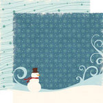Echo Park - Wintertime Collection - 12 x 12 Double Sided Paper - Snowman