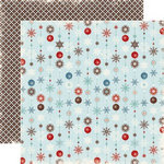 Echo Park - Wintertime Collection - 12 x 12 Double Sided Paper - Snowflakes, CLEARANCE