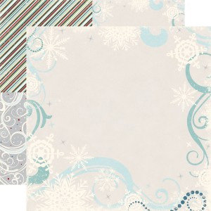 Echo Park - Wintertime Collection - 12 x 12 Double Sided Paper - Frost