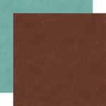 Echo Park - Wintertime Collection - 12 x 12 Double Sided Paper - Hot Chocolate and Pine Green